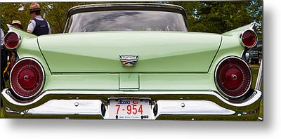 Metal Print featuring the photograph Light Green Classic Car by Mick Flynn