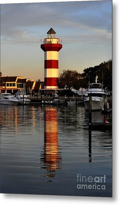 Light House At Harbour Town Metal Print by Dan Friend