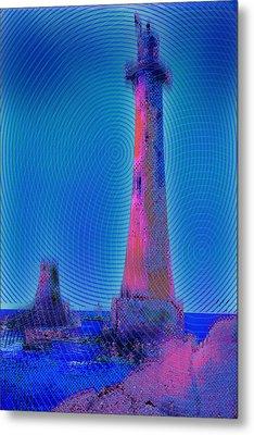 Light House At Sunset 1 Metal Print by Tony Rubino