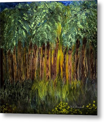 Light In The Forest Metal Print by Dick Bourgault