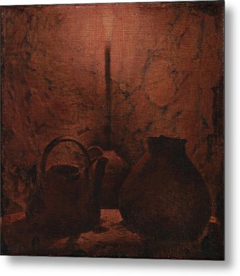 Metal Print featuring the mixed media Light My Night by Carla Woody