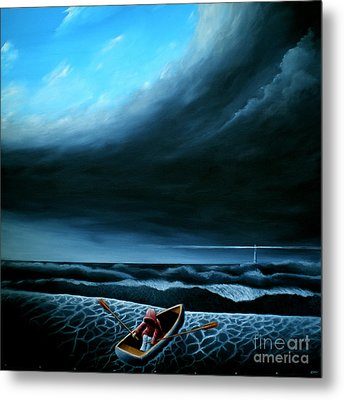 Metal Print featuring the painting Light My Way Iv by Ric Nagualero