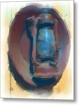 Light My Way Of Old Metal Print by Barbara MacPhail