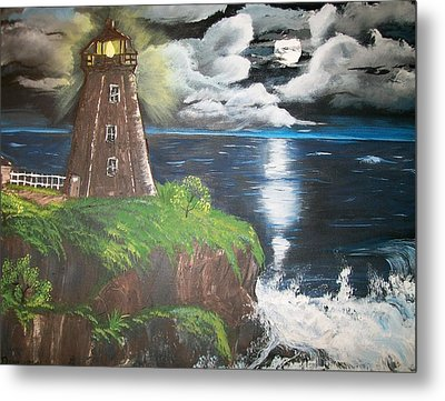 Metal Print featuring the painting Light Of The Moon by Sharon Duguay