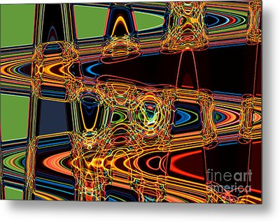 Light Painting 3 Metal Print by Delphimages Photo Creations