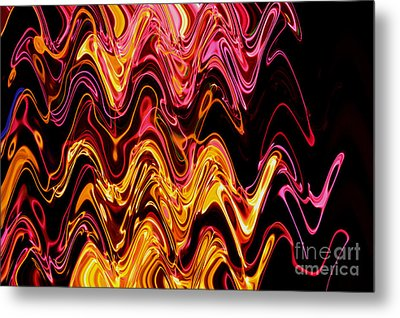 Light Painting 5 Metal Print by Delphimages Photo Creations