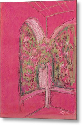 Light Pink Patio Metal Print by Marcia Meade