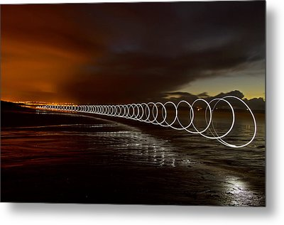 Light Play On Saunton Sands Metal Print by Pete Hemington