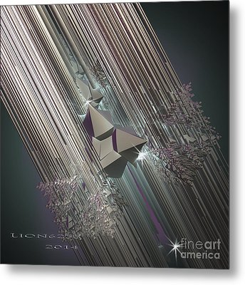 Metal Print featuring the digital art Light Rays by Melissa Messick