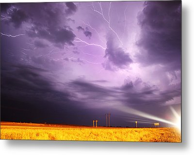 Metal Print featuring the photograph Light Show Over Yorkton by Ryan Crouse