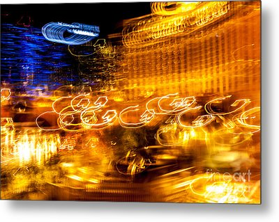 Light Trails Abstract 2 Metal Print