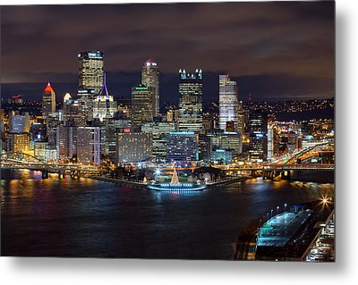 Light Up Night Pittsburgh 3 Metal Print