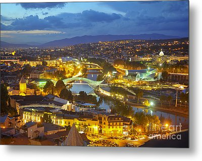Light View To Old Town Of Tbilisi Metal Print by Andrey Tovstyzhenko