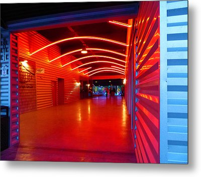 Lighted Breezeway - At Trinity Groves Metal Print