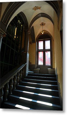 Lighted Stairs Metal Print