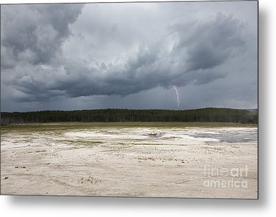 Metal Print featuring the photograph Lightening At Yellowstone by Belinda Greb