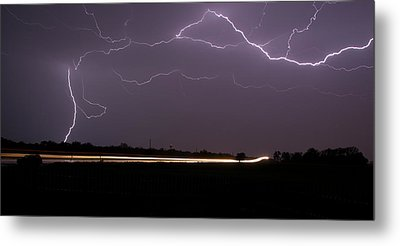 Metal Print featuring the photograph Lightening Bolts by Charles Beeler