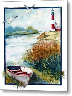 Lighthouse 1 Metal Print by Marilyn Smith