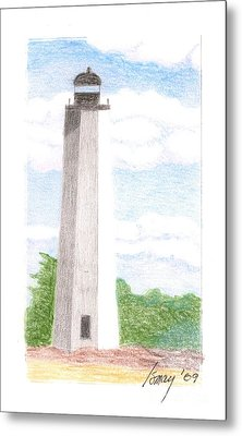 Metal Print featuring the drawing Lighthouse 1 by Rod Ismay
