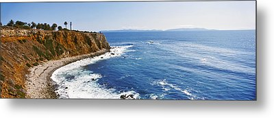 Lighthouse At A Coast, Point Vicente Metal Print by Panoramic Images