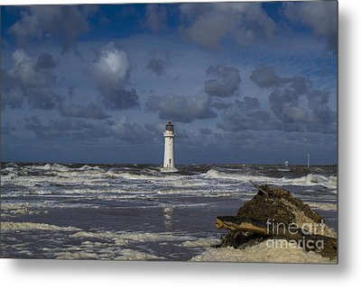 lighthouse at New Brighton Metal Print by Spikey Mouse Photography