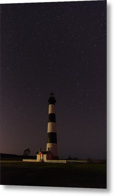 Metal Print featuring the photograph Lighthouse At Night by Gregg Southard