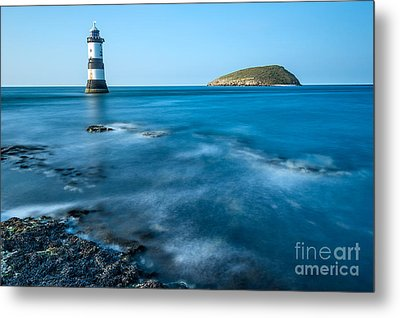 Lighthouse At Penmon Point Metal Print by Adrian Evans