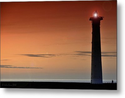 Metal Print featuring the photograph Lighthouse At Sunrise by Julis Simo