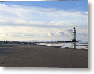 Lighthouse At Talacre Metal Print by Spikey Mouse Photography