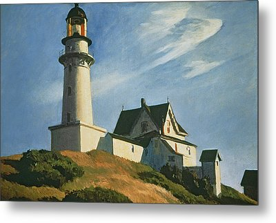 Lighthouse At Two Lights Metal Print by Edward Hopper