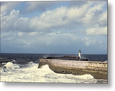 Lighthouse At Whitehaven Metal Print by Amanda Elwell