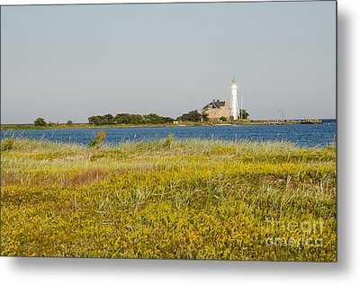Lighthouse At Yellow Coast Metal Print