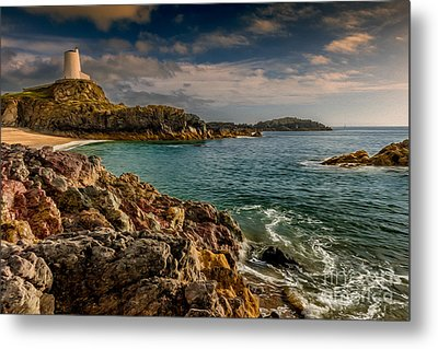 Lighthouse Bay Metal Print by Adrian Evans