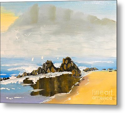 Lighthouse Beach Metal Print