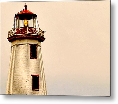 Lighthouse Beam Metal Print by Steve Archbold
