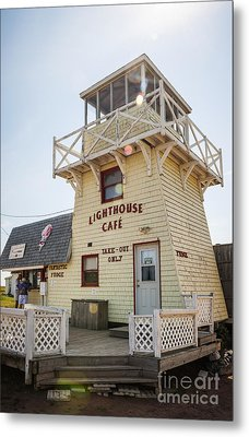 Lighthouse Cafe In North Rustico Metal Print by Elena Elisseeva