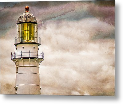 Lighthouse Cape Elizabeth Maine Metal Print by Bob Orsillo