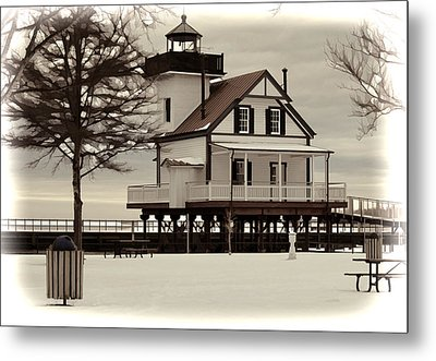 Lighthouse Metal Print by Carolyn Ricks