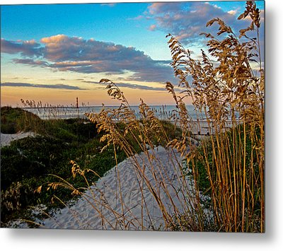 Lighthouse Folly Beach Metal Print by Will Burlingham