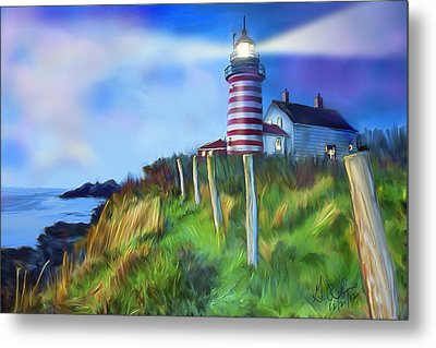 Lighthouse Metal Print by Gerry Robins