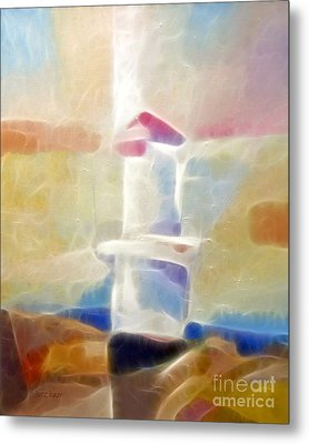 Lighthouse Glow Metal Print