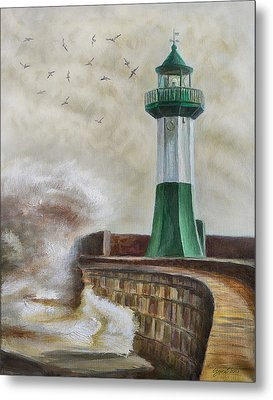 Lighthouse Metal Print by Gynt Art