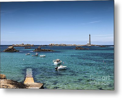 Lighthouse Ile Vierge Brittany France Metal Print by Colin and Linda McKie