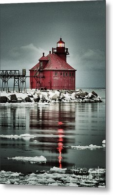 Lighthouse In The Darkness Metal Print