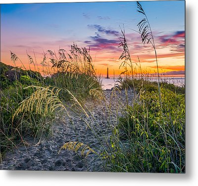 Lighthouse Lookout Metal Print by Steve DuPree