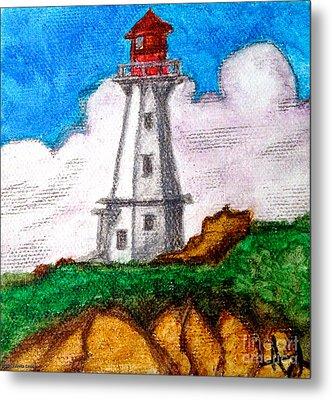 Lighthouse Nova Scotia Metal Print by Anita Lewis