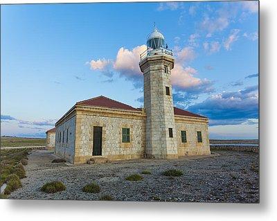 Lighthouse Of Punta Nati Metal Print by Antonio Macias Marin