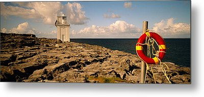 Lighthouse On A Landscape, Blackhead Metal Print by Panoramic Images