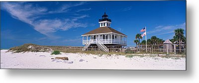 Lighthouse On The Beach, Port Boca Metal Print by Panoramic Images