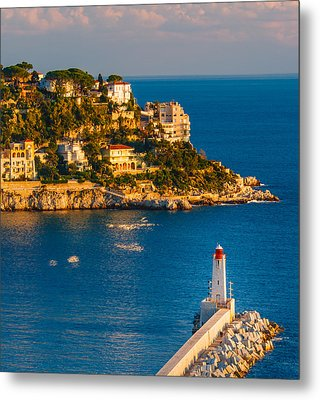 Lighthouse On The Riviera Metal Print